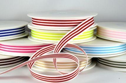 54513 - 15mm Modern Candy Stripes Ribbon x 20 Metre Rolls!