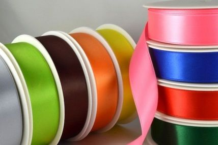 25mm Double Sided Satin Ribbon x 100 Metre Rolls!