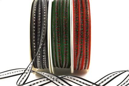 6mm Decorative Lurex Woven Ribbon x 20 Metres!!