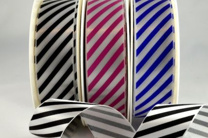 25mm & 38mm Candy Stripe Ribbon x 20 and 100 Metre Rolls!!