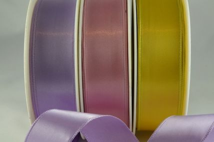 25, 38 & 63mm Single Faced Satin (Wired) Ribbon x 20 Metre Rolls!!