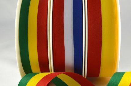 53998 - 15, 25 & 40mm Flags & Stripes Ribbon - 25 & 100 Metre Rolls