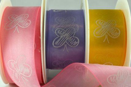 64006 - 40mm Sheer Printed Butterfly Ribbon x 20 Metre Rolls!!