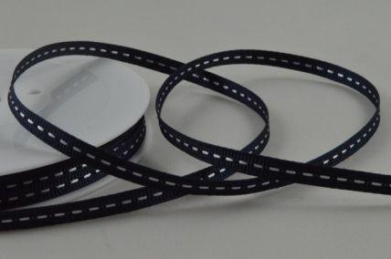 5mm Navy Blue Centre Stitched Grosgrain Ribbon x 20 Metre Rolls!
