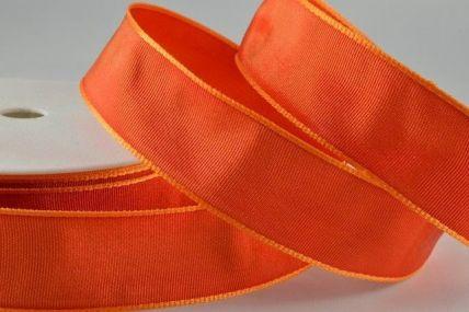 25mm, 40mm & 60mm Deep Orange Wired Colour Woven Ribbon x 25 metre rolls!