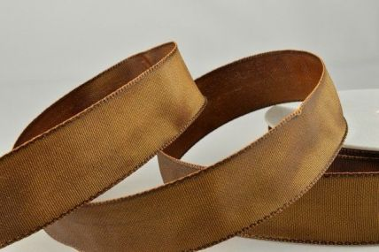 25mm, 40mm & 60mm Brown Wired Colour Woven Ribbon x 25 metre rolls!
