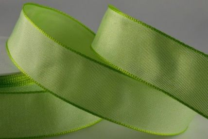 40mm & 60mm Pale Green Wired Colour Woven Ribbon x 25 metre rolls!