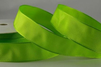 25mm, 40mm & 60mm Light Green Wired Colour Woven Ribbon x 25 Metre Rolls!