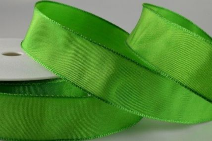 25mm, 40mm & 60mm Green Wired Colour Woven Ribbon x 25 metre rolls!