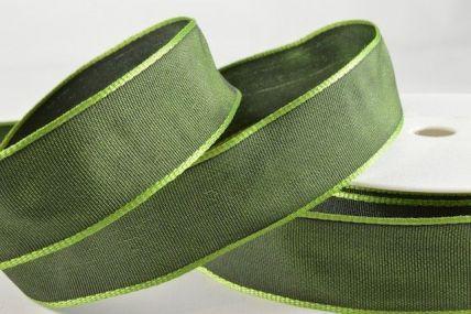 25mm, 40mm & 60mm Wired Emerald Green Ribbon x 25 metre rolls!