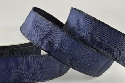 25mm, 40mm & 60mm Navy Blue Wired Woven Ribbon x 25 metre rolls!