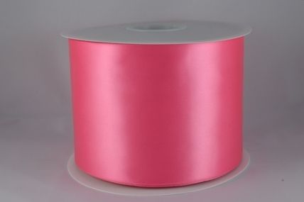 100mm Pink Single Sided Satin Sash ribbon x 50 metre rolls!!