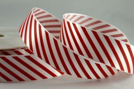 25mm & 38mm Red Candy Stripe Ribbon x 100 Metre Rolls!