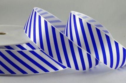 25mm & 38mm Blue Candy Stripe Ribbon x 100 Metre Rolls!