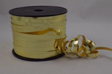 5mm Gold Metallic Polypropylene Curling Ribbon x 250 Metre Rolls!