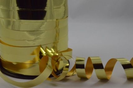 10mm Gold Metallic Polypropylene Curling Ribbon x 250 Metre Rolls!!