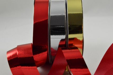 15mm Metallic Curling Polypropylene Ribbon x 10 Metre Rolls!!