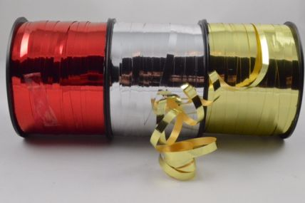 5mm Metallic Coloured Polypropylene Curling Ribbon x 250 Metre Rolls!!