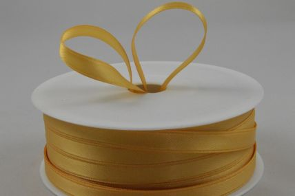 7mm Gold Double Sided Satin x 50 Metre Rolls!