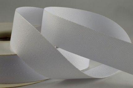 25mm White Herringbone Ribbon x 50 Metre Rolls!