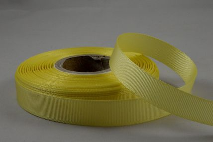 16mm Yellow Grosgrain Ribbon x 20 Metre Rolls!