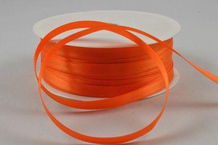 X191 - 7mm Orange Double Sided Satin Ribbon x 50 Metre Rolls!