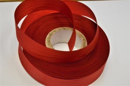 24mm Red Moire Acetate Satin Ribbon x 50 Metre Rolls!