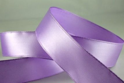 25mm, 38mm & 63mm Lilac Wired Single Faced Satin Ribbon x 20 Metre Rolls!