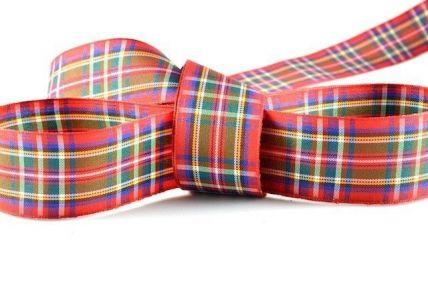 Red Tartan Ribbon x 25 or 100 Metre Rolls!
