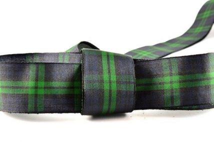 12mm, 16mm, 25mm & 38mm Green Tartan Ribbon x 25 or 100 Metre Rolls!