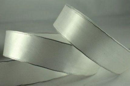 25mm Eggshell Wired Single Faced Satin Ribbon x 20 Metre Rolls!!