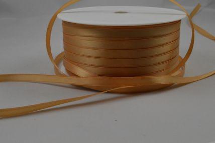 7mm Gold Double Sided Satin Ribbon x 200 Metre Bulk Rolls!