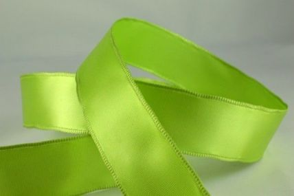 25mm, 38mm & 63mm Green Wired Single Faced Satin Ribbon x 20 Metre Rolls!