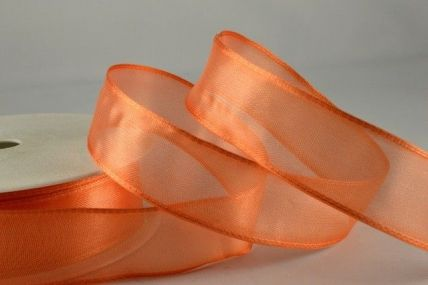 25mm & 40mm Tango Wired Sheer Organza Ribbon x 25 Metre Rolls!