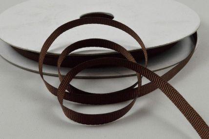 Y123 - 3mm Brown Grosgrain Ribbon x 20 Metre Rolls!