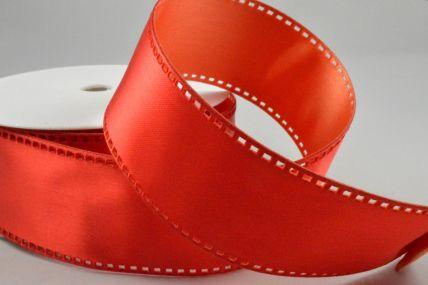 40mm Red Wired Filmstrip Ribbon x 10 Metre Rolls!