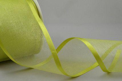 Y269 - 70mm Moss Satin Sheer Ribbon x 25 Metre Rolls!