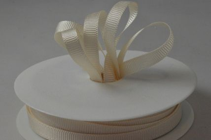 6mm Cream Grosgrain Ribbon x 20 Metre Rolls!