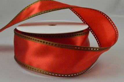 40mm Wired Red & Green Filmstrip Ribbon x 10 Metre Rolls!