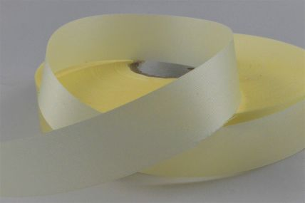 24mm Yellow Cream Acetate Ribbon x 100 Metre Rolls!