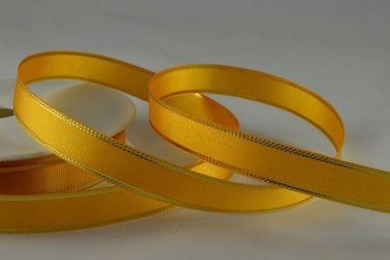 12mm Lemon Gold Tramline Ribbon x 25/50 Metre Rolls!