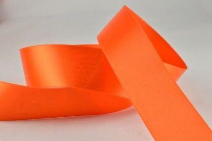 15mm & 25mm Orange Single Faced Satin Ribbon x 20 Metre Rolls!
