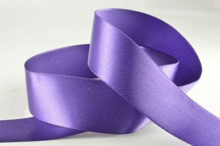 25mm Dark Purple Single Faced Satin Ribbon x 20 Metre Rolls!