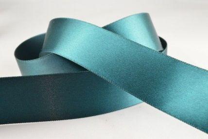 15mm & 25mm Dark Green Single Faced Satin Ribbon x 20 Metre Rolls!