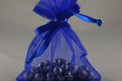 Pack of 12 Royal Blue Organza Bags