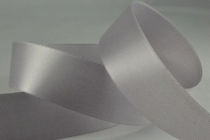 25mm Silver Single Faced Satin Ribbon x 20 Metre Rolls!